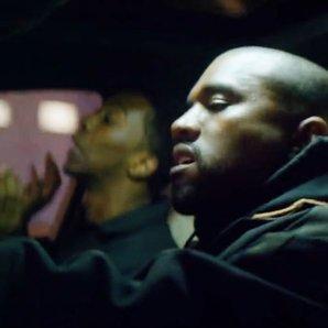 Kanye West and Desiigner in car